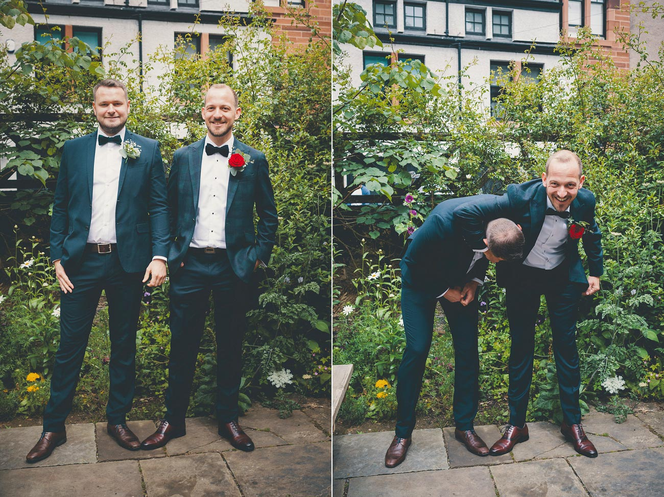 Groom and best man Cottiers
