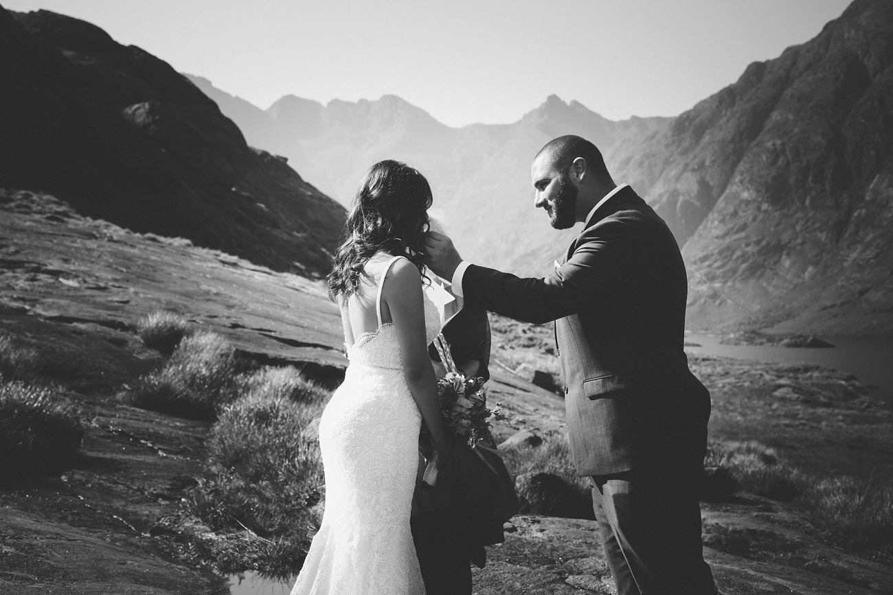 Isle of Skye wedding photography small elopement humanist wedding Loch Coruisk 0037