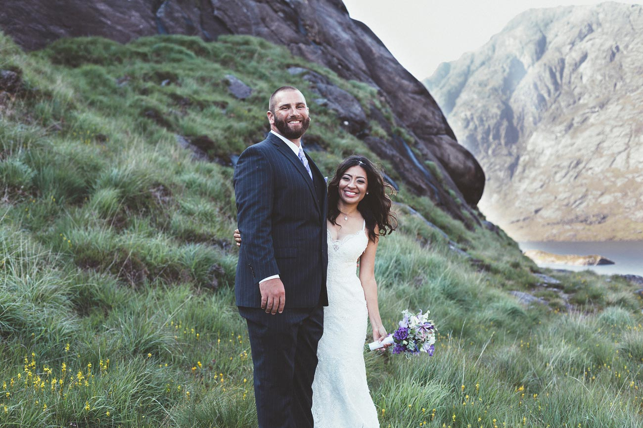 Isle of Skye wedding photography small elopement humanist wedding Loch Coruisk 0044