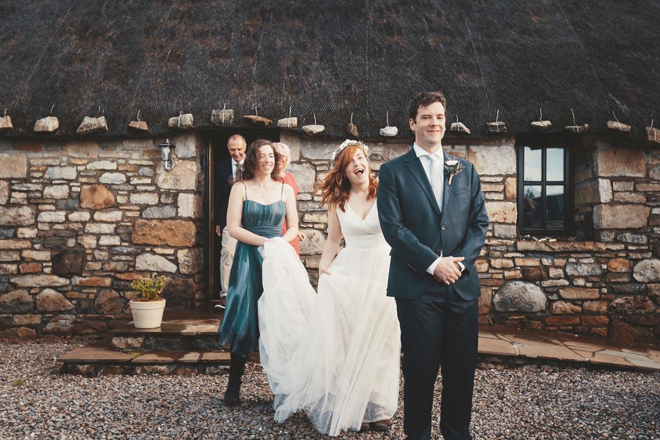 first look Isle of Skye wedding