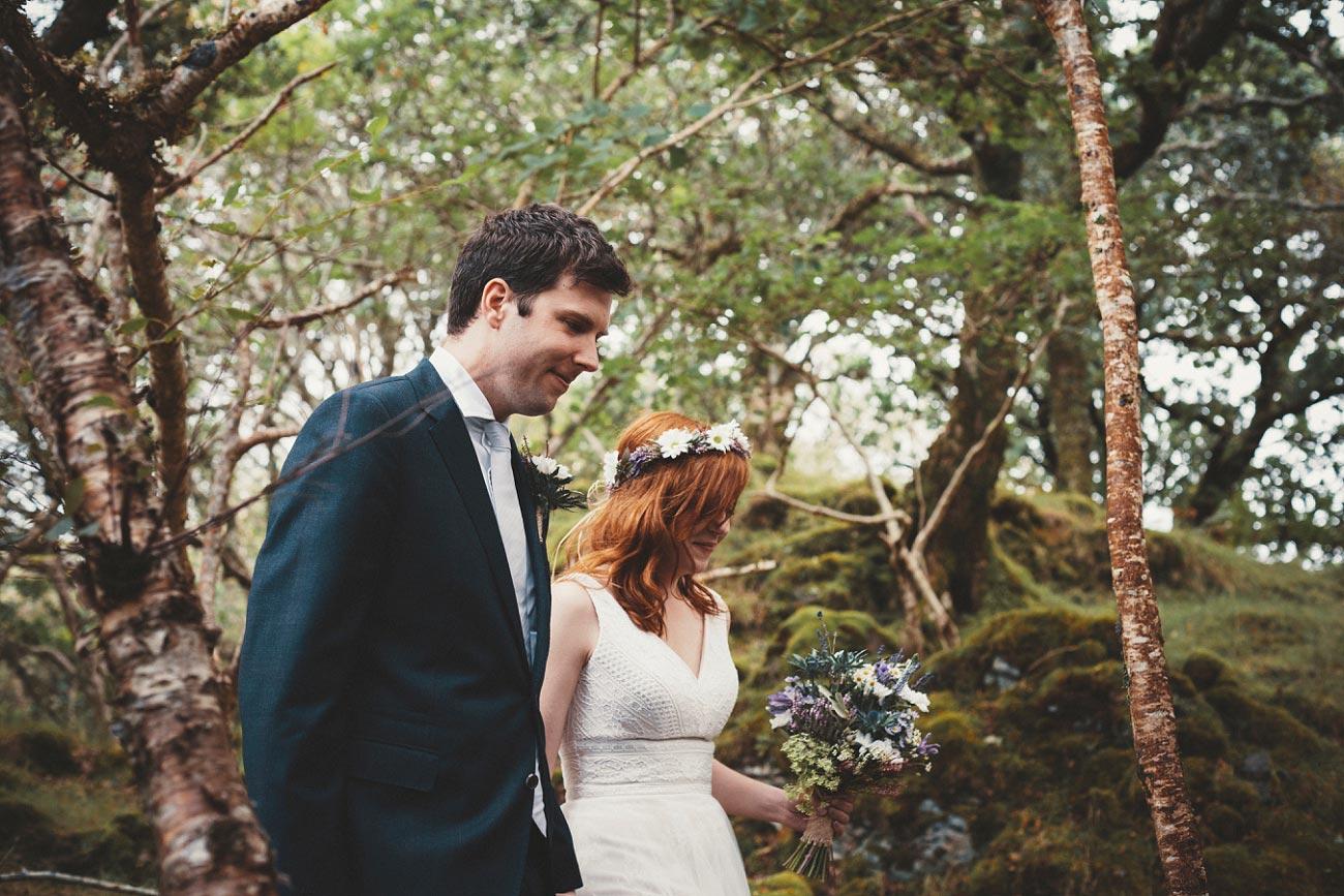 Woodland wedding,Isle of Skye
