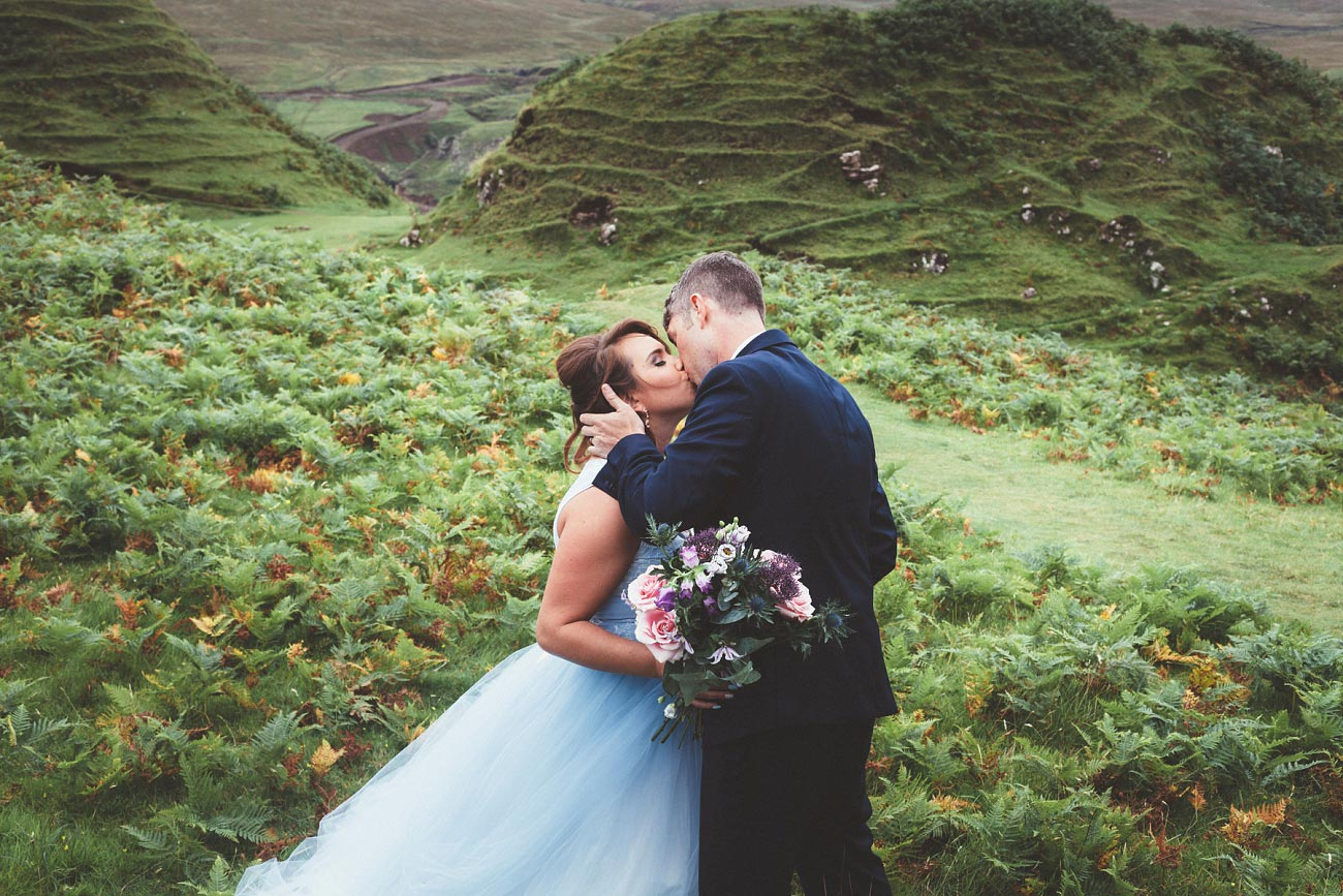 Scottish highlands wedding photography isle of skye the fairy glen quiraing 0009