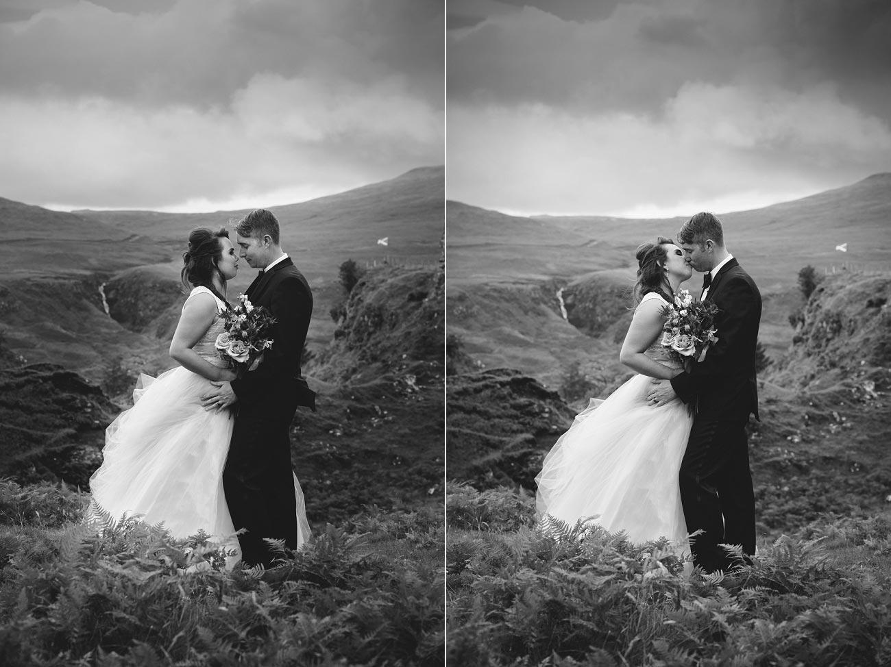 Scottish highlands wedding photography isle of skye the fairy glen quiraing 0012