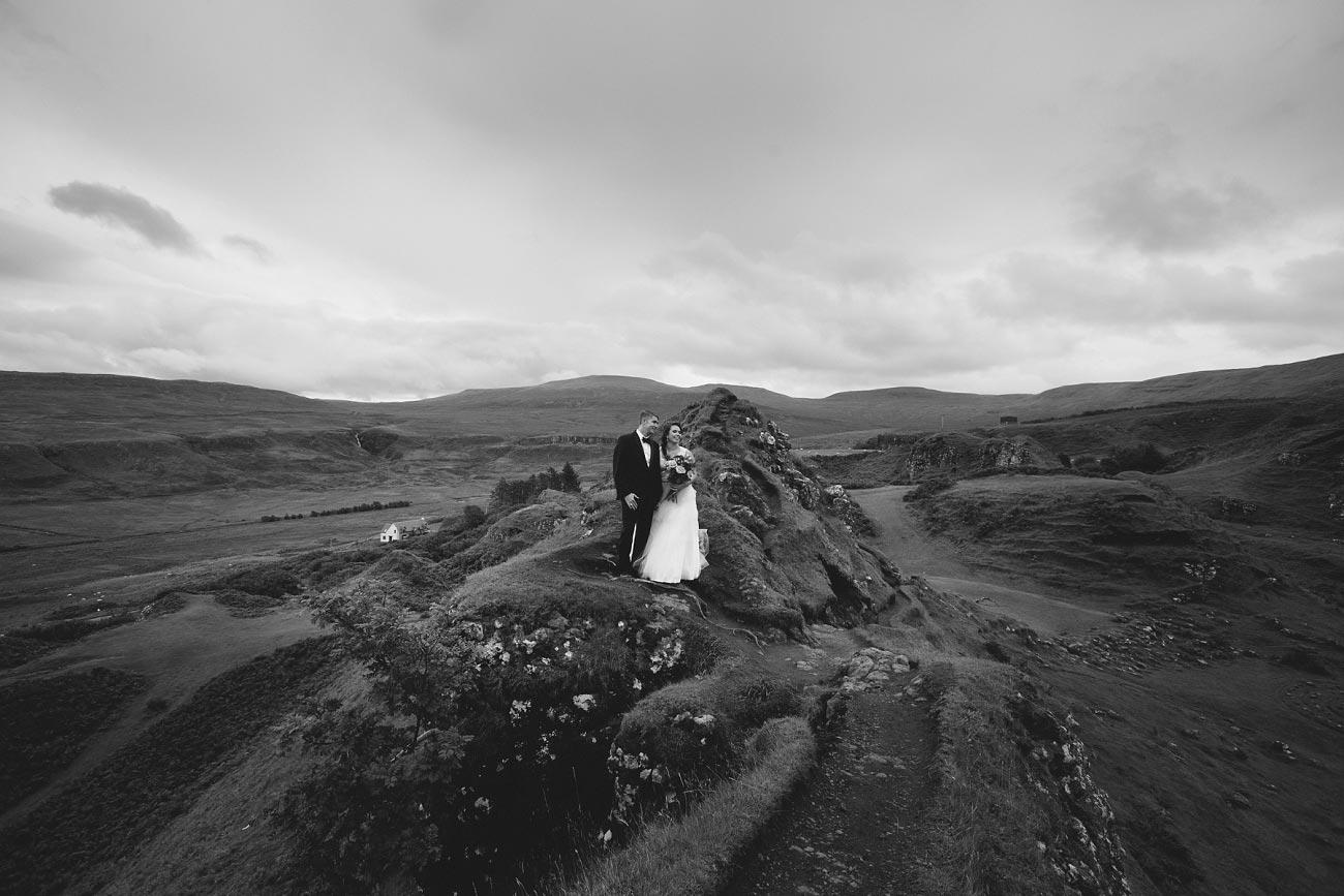 Scottish highlands wedding photography isle of skye the fairy glen quiraing 0013