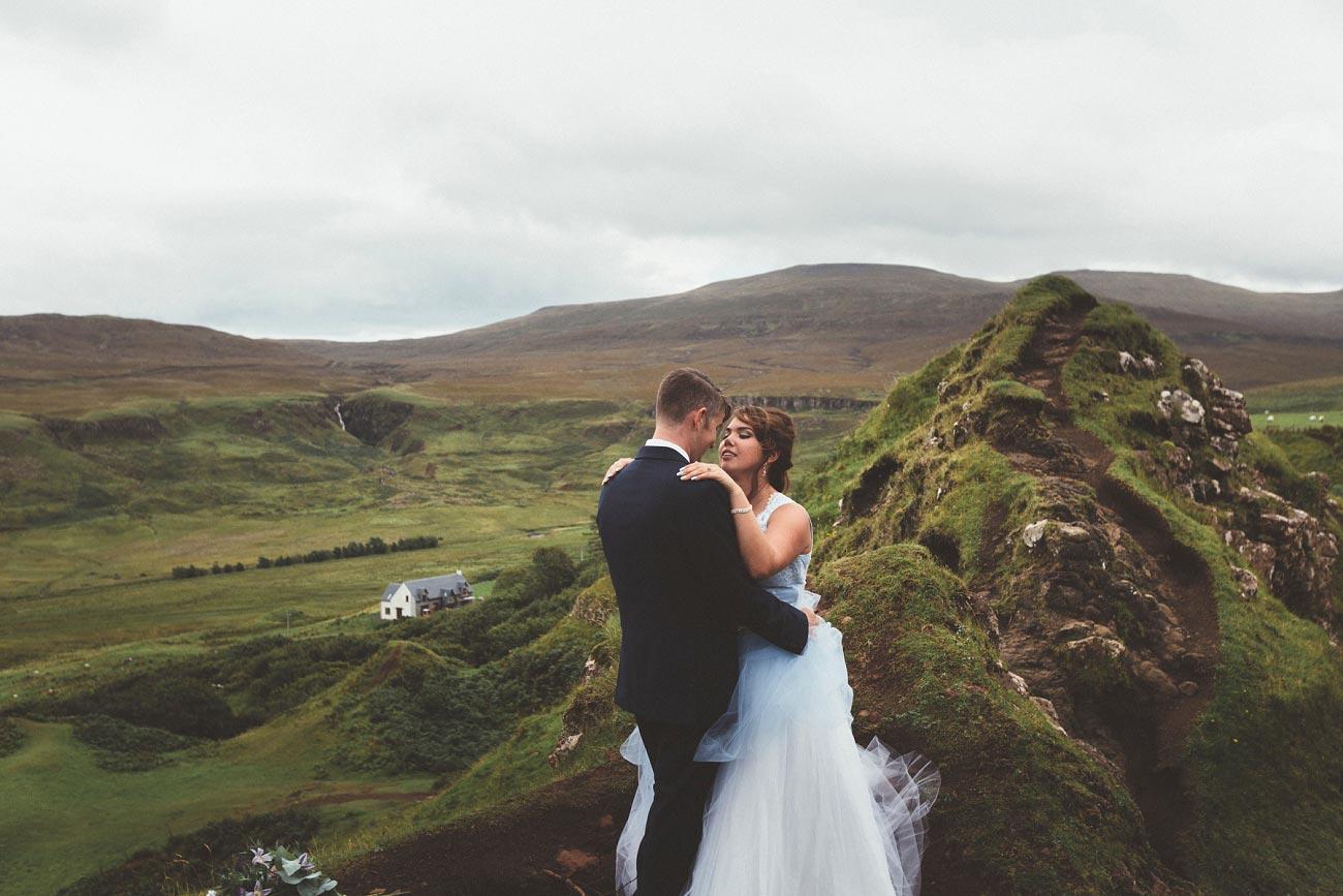 Scottish highlands wedding photography isle of skye the fairy glen quiraing 0016