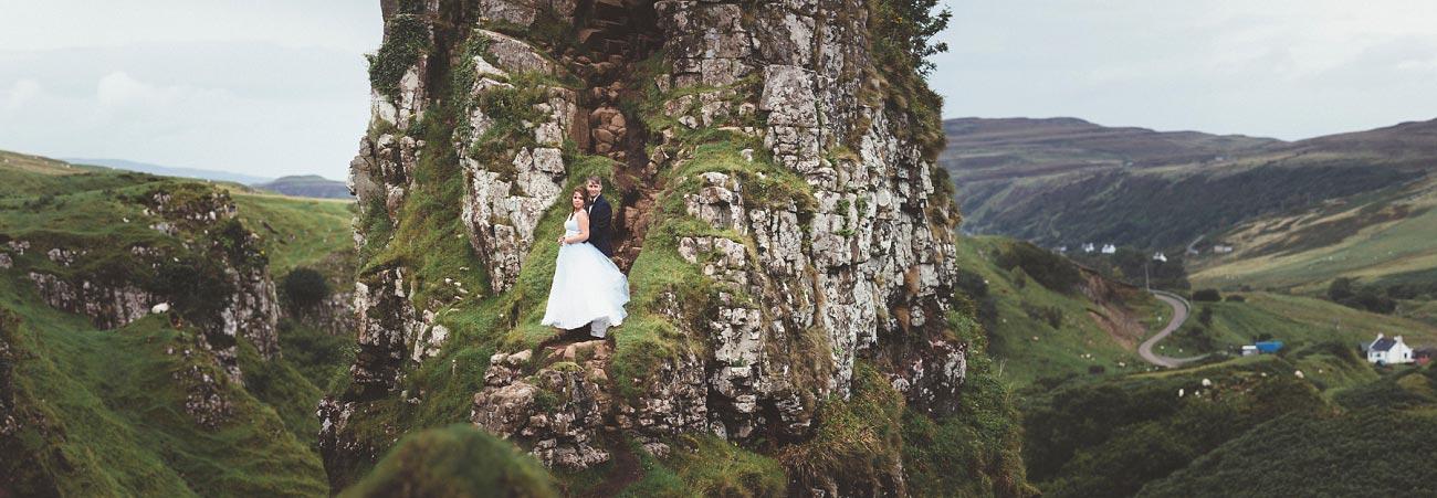 Scottish highlands wedding photography isle of skye the fairy glen quiraing 0017