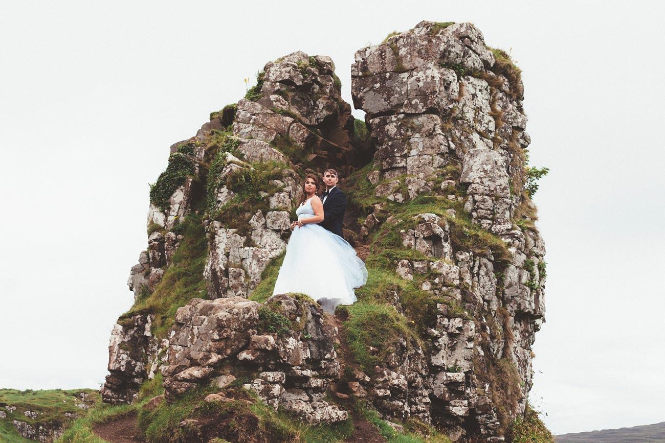 Scottish highlands wedding photography isle of skye the fairy glen quiraing 0018