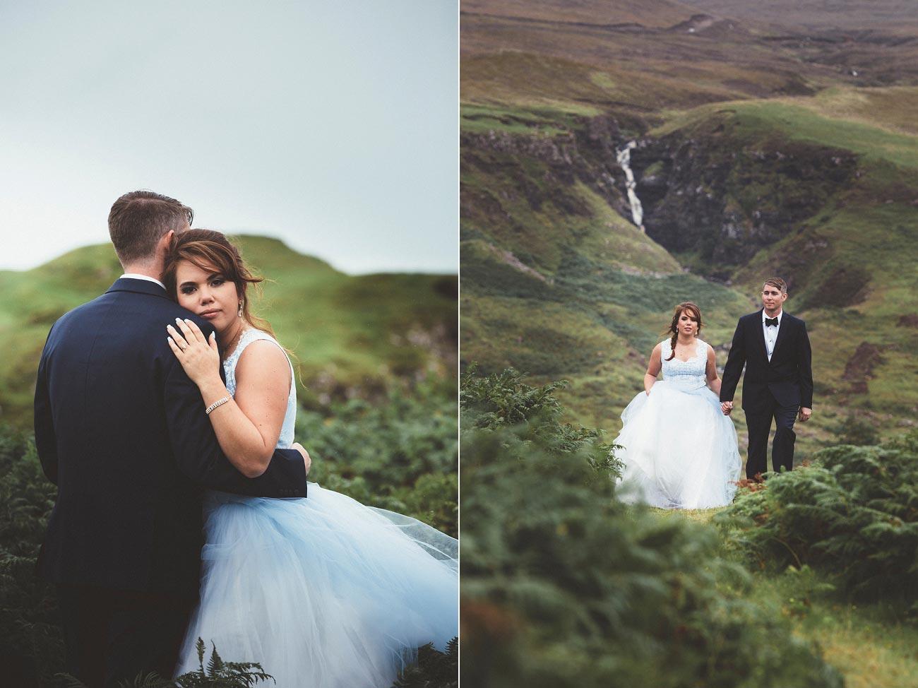 Scottish highlands wedding photography isle of skye the fairy glen quiraing 0019