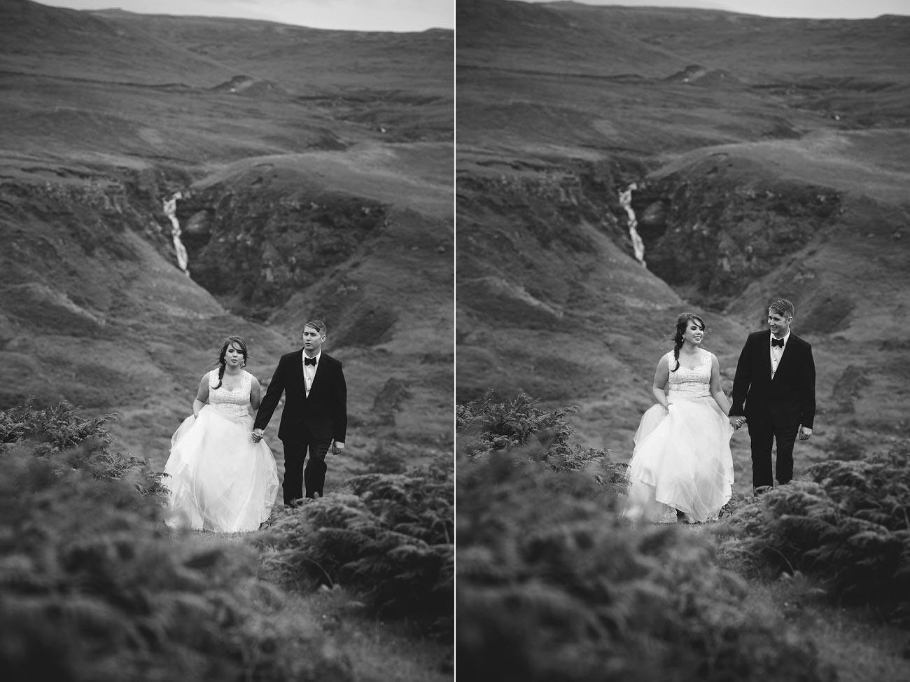 Scottish highlands wedding photography isle of skye the fairy glen quiraing 0020
