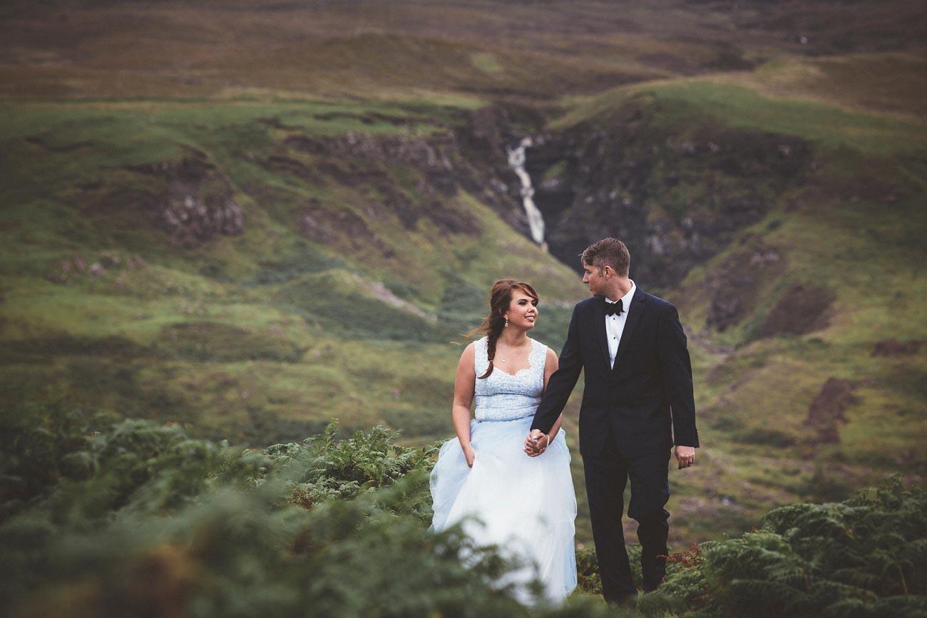 Scottish highlands wedding photography isle of skye the fairy glen quiraing 0021