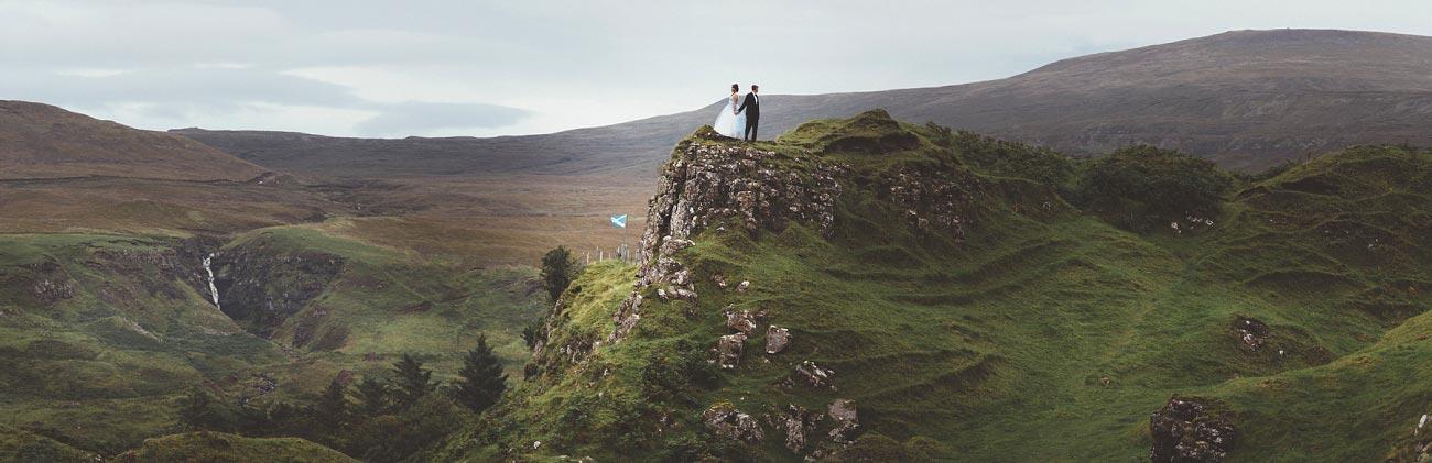 Scottish highlands wedding photography isle of skye the fairy glen quiraing 0024