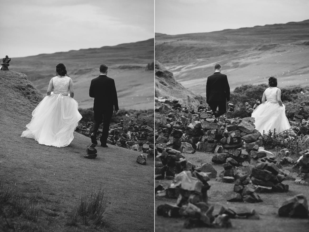 Scottish highlands wedding photography isle of skye the fairy glen quiraing 0025