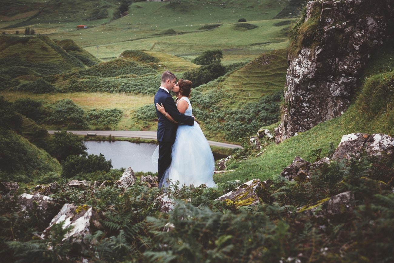 Scottish highlands wedding photography isle of skye the fairy glen quiraing 0026