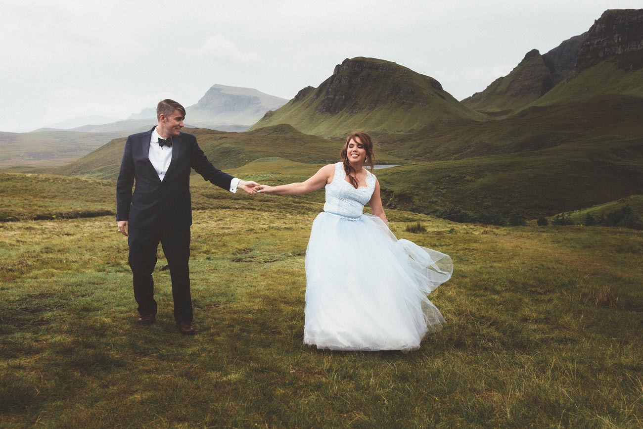 Scottish highlands wedding photography isle of skye the fairy glen quiraing 0034