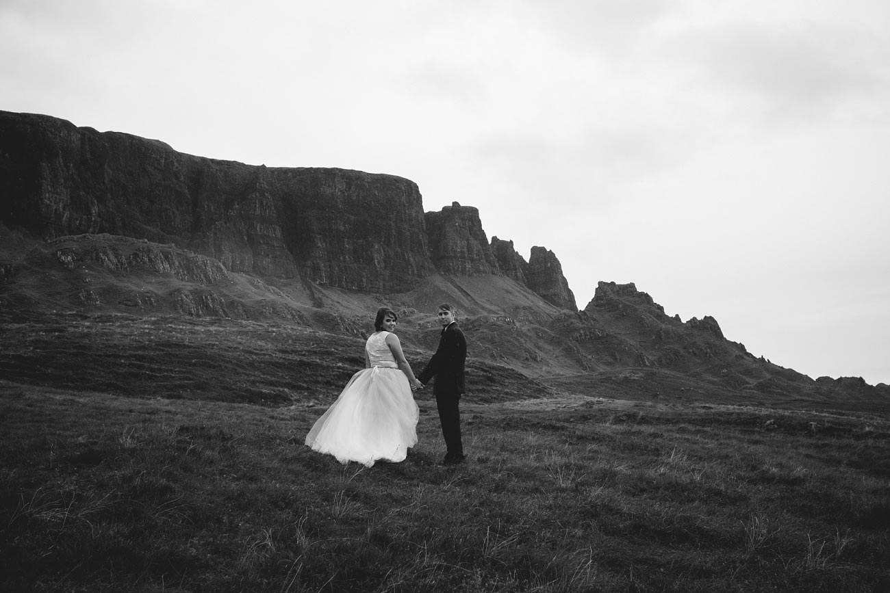 Scottish highlands wedding photography isle of skye the fairy glen quiraing 0036