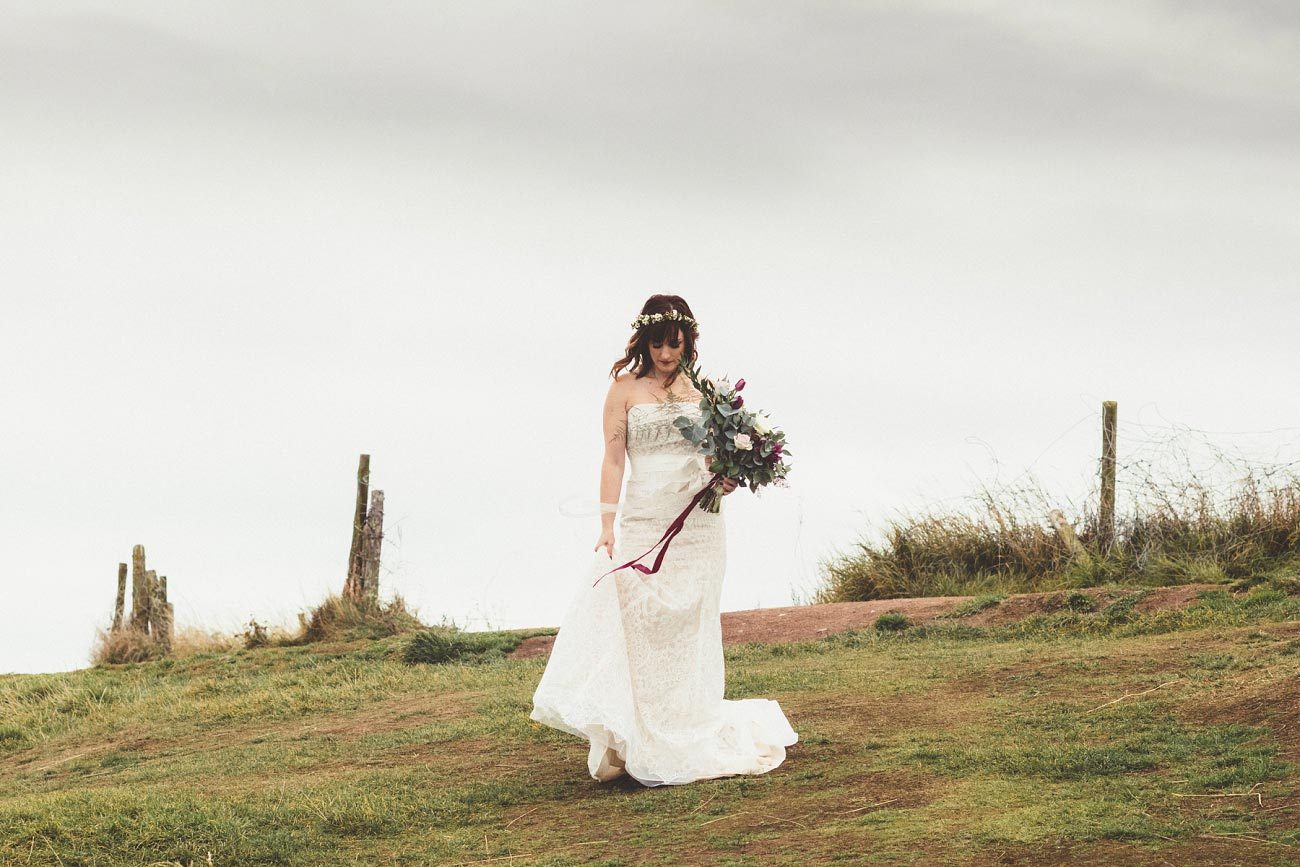 dunnottar castle elopement wedding photographer scotland scottish highlands abderdeenshire aj 0003