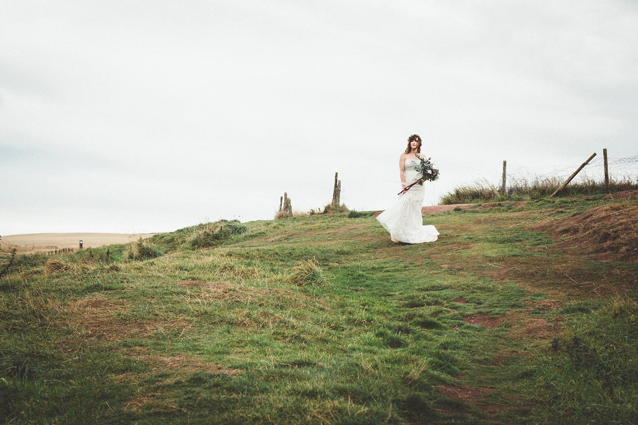 dunnottar castle elopement wedding photographer scotland scottish highlands abderdeenshire aj 0005