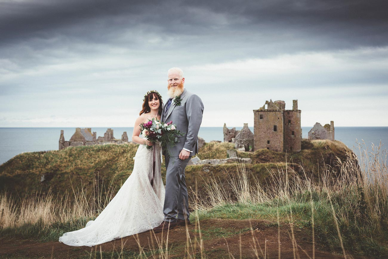 dunnottar castle elopement wedding photographer scotland scottish highlands abderdeenshire aj 0019