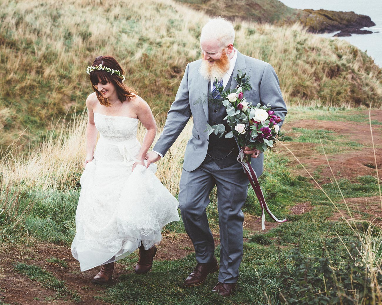 dunnottar castle elopement wedding photographer scotland scottish highlands abderdeenshire aj 0021