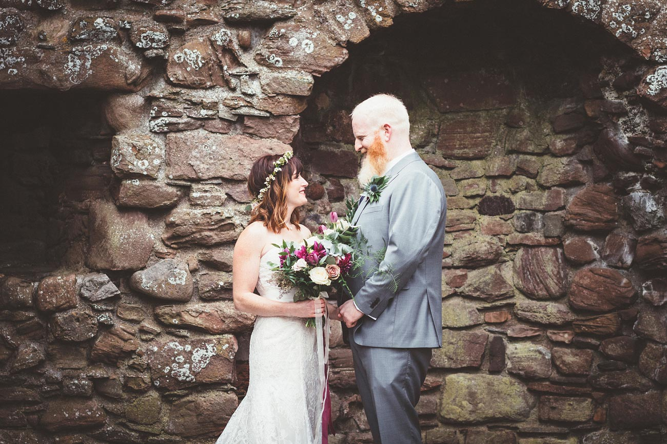 dunnottar castle elopement wedding photographer scotland scottish highlands abderdeenshire aj 0023