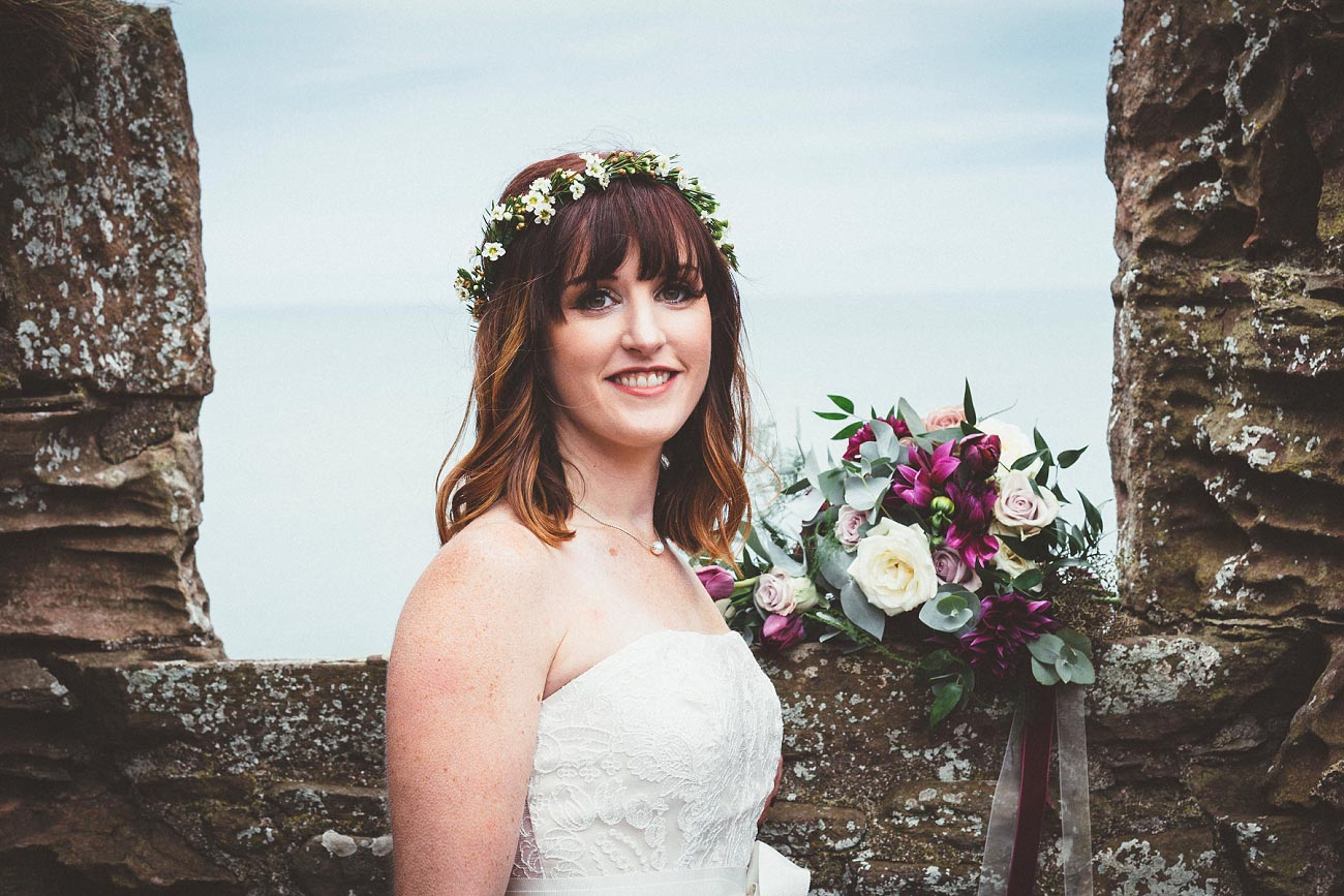 dunnottar castle elopement wedding photographer scotland scottish highlands abderdeenshire aj 0026