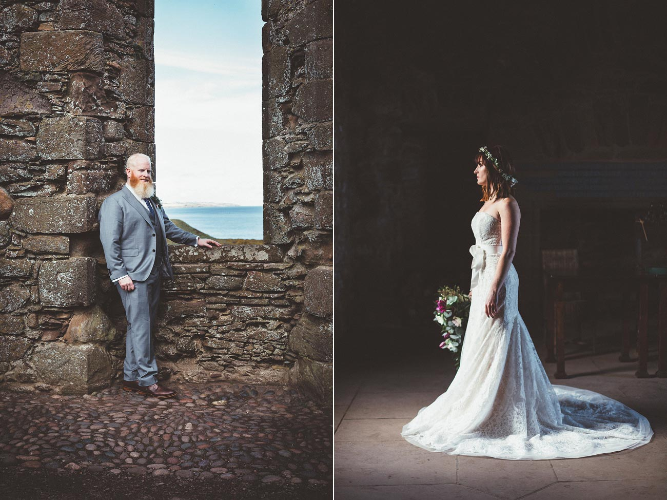 dunnottar castle elopement wedding photographer scotland scottish highlands abderdeenshire aj 0034