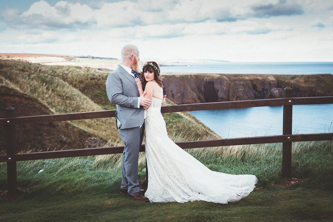 dunnottar castle elopement wedding photographer scotland scottish highlands abderdeenshire aj 0038