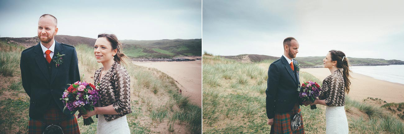 gairloch wedding photography elopement red point beach outdoor weddings scottish highlands 0024
