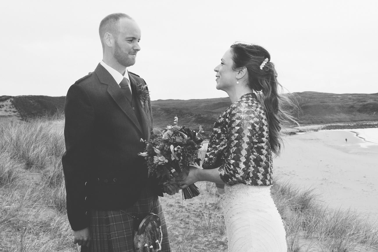 gairloch wedding photography elopement red point beach outdoor weddings scottish highlands 0030