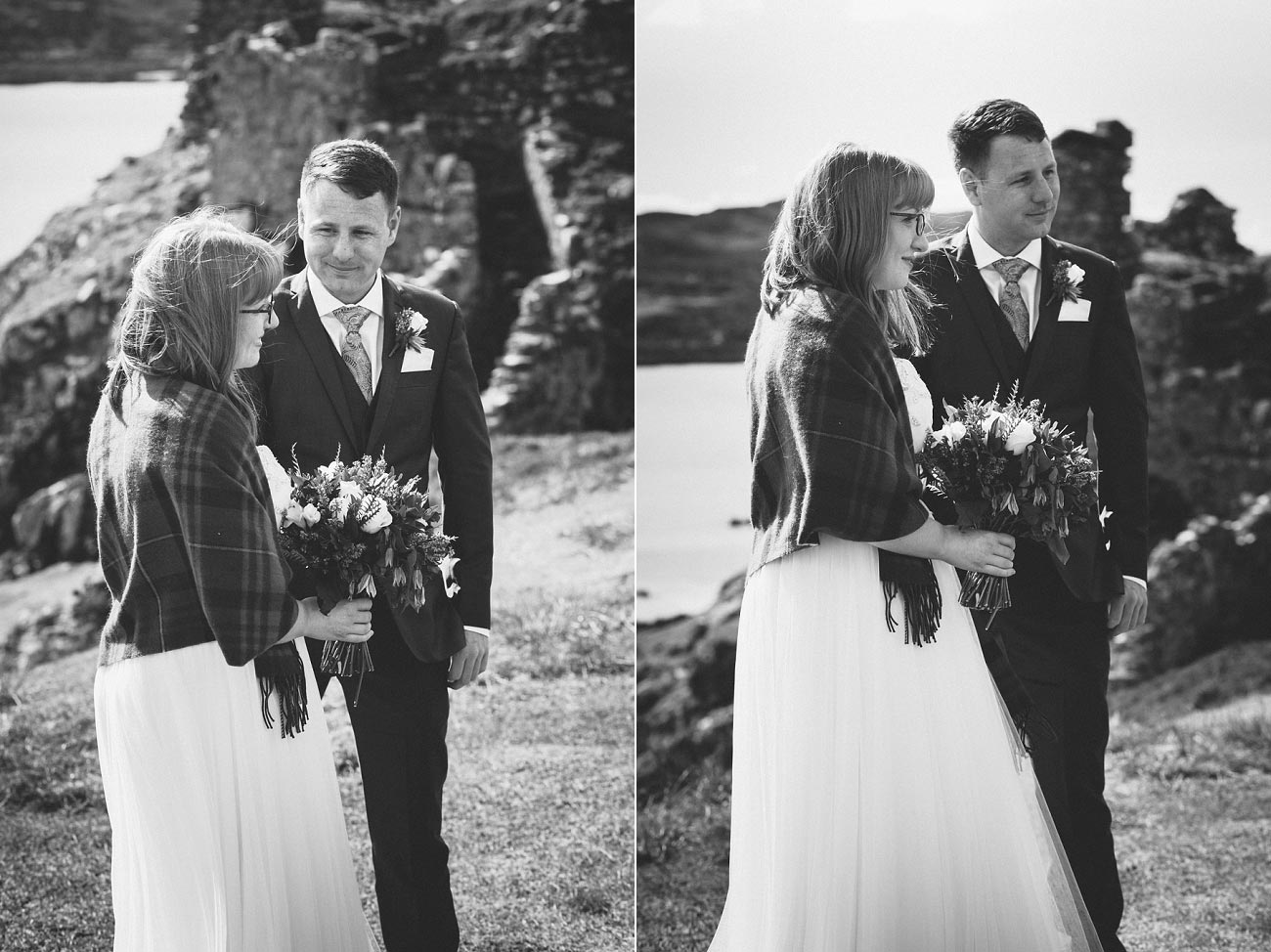 isle of skye elopement wedding photographer scotland dunscaith castle rj 0014