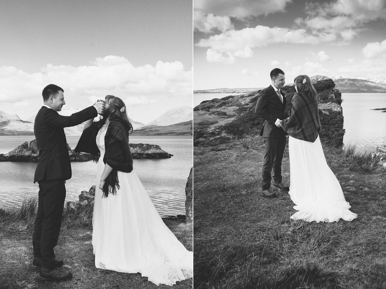 isle of skye elopement wedding photographer scotland dunscaith castle rj 0018