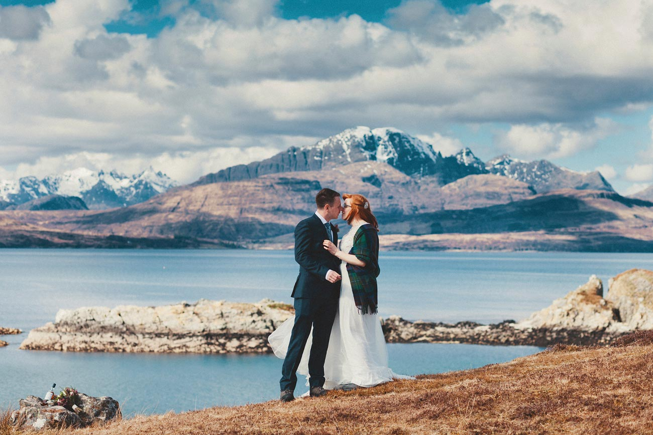 isle of skye elopement wedding photographer scotland dunscaith castle rj 0024