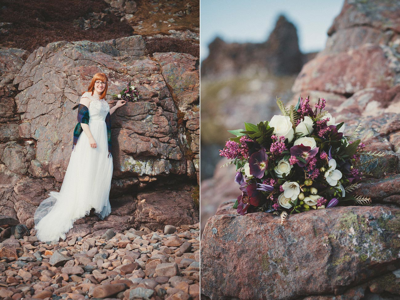 isle of skye elopement wedding photographer scotland dunscaith castle rj 0028