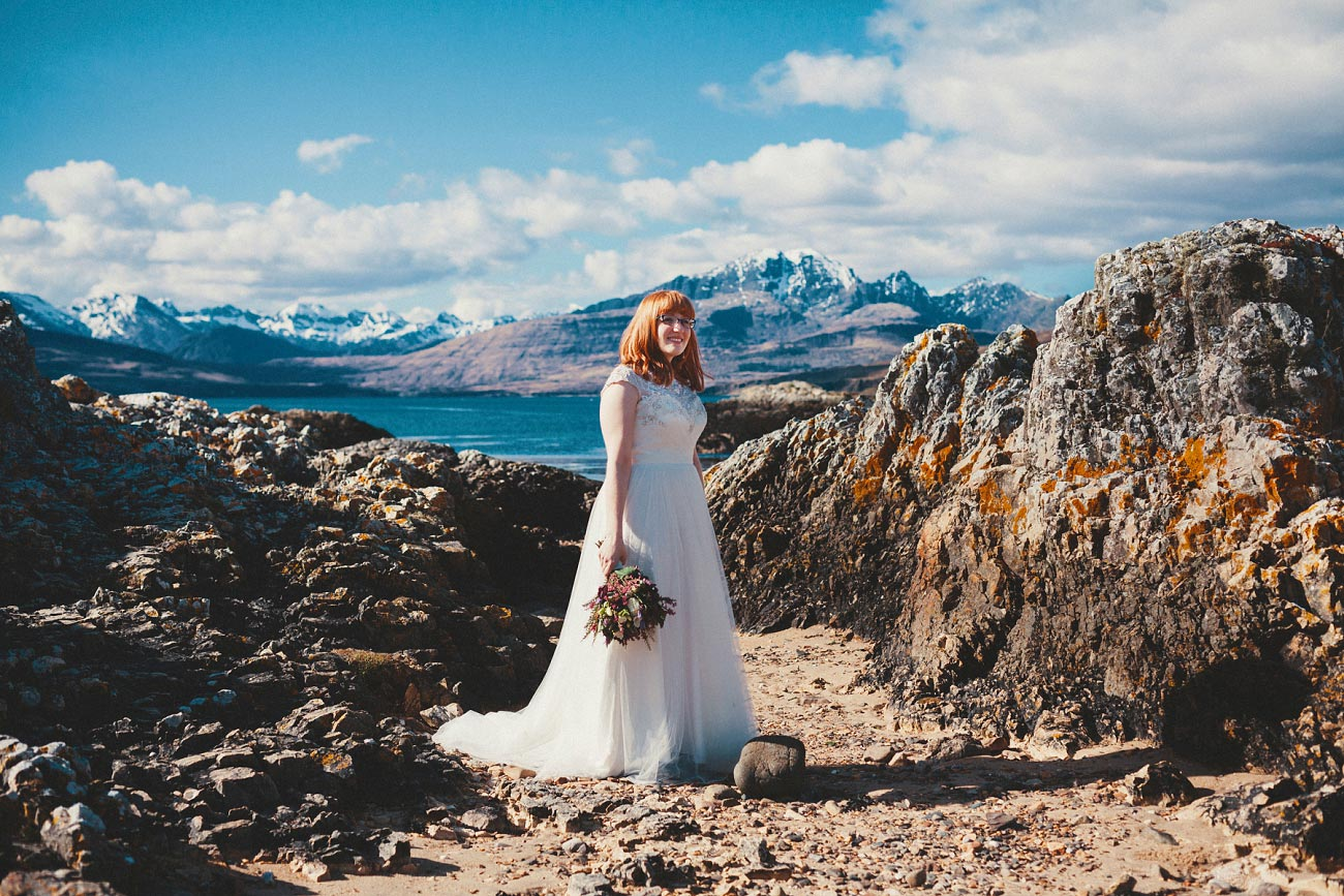 isle of skye elopement wedding photographer scotland dunscaith castle rj 0029