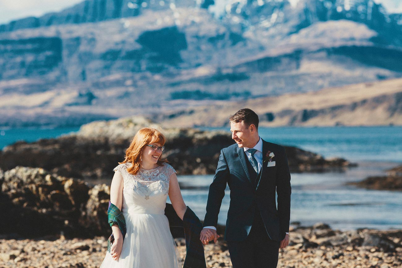 isle of skye elopement wedding photographer scotland dunscaith castle rj 0030