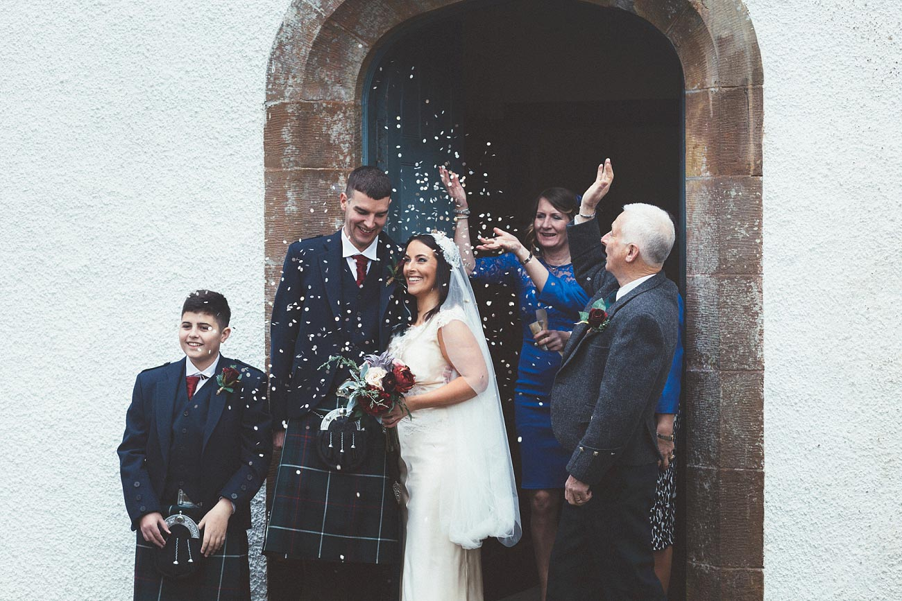 small church wedding Invernessshire scotland scottish highlands Croick 0028