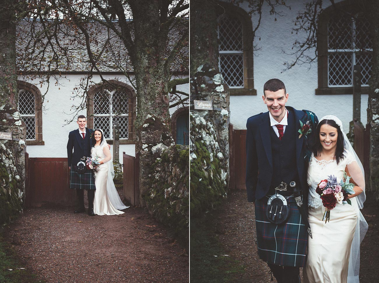 small church wedding Invernessshire scotland scottish highlands Croick 0034
