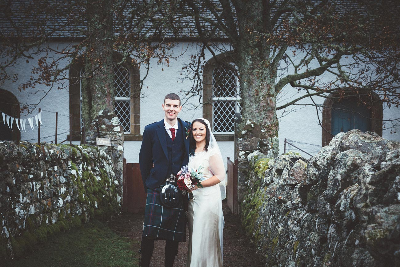 small church wedding Invernessshire scotland scottish highlands Croick 0035