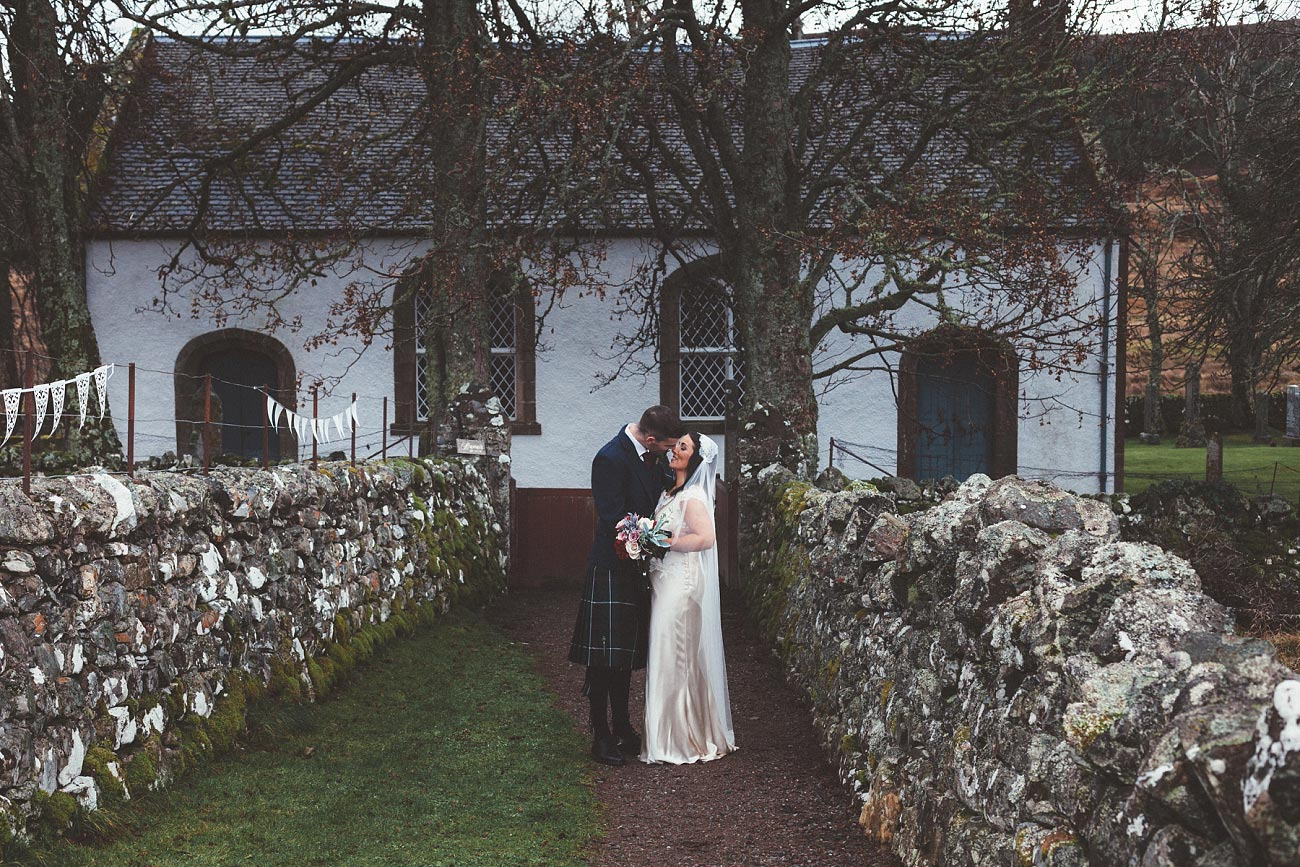 small church wedding Invernessshire scotland scottish highlands Croick 0036