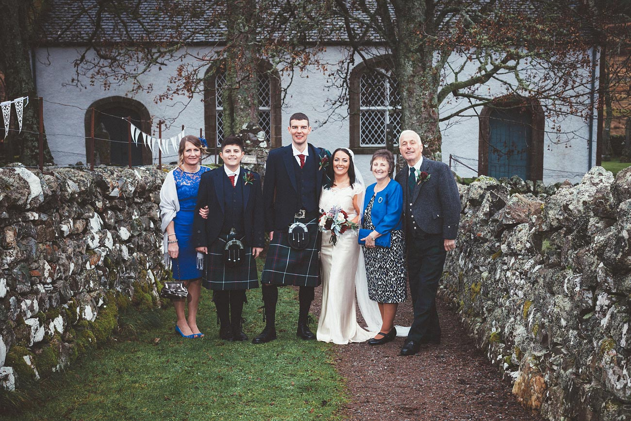 small church wedding Invernessshire scotland scottish highlands Croick 0037