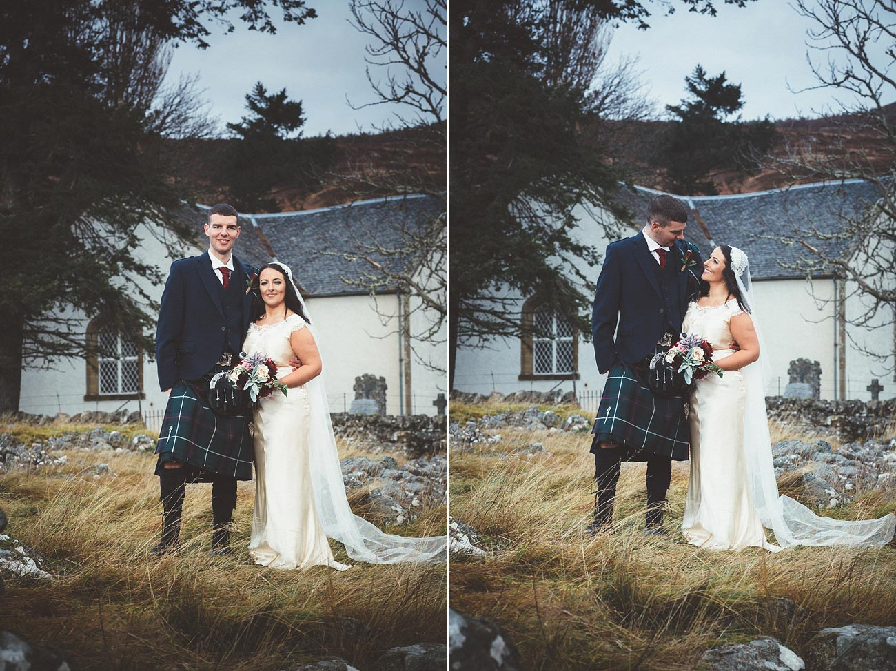 small church wedding Invernessshire scotland scottish highlands Croick 0040