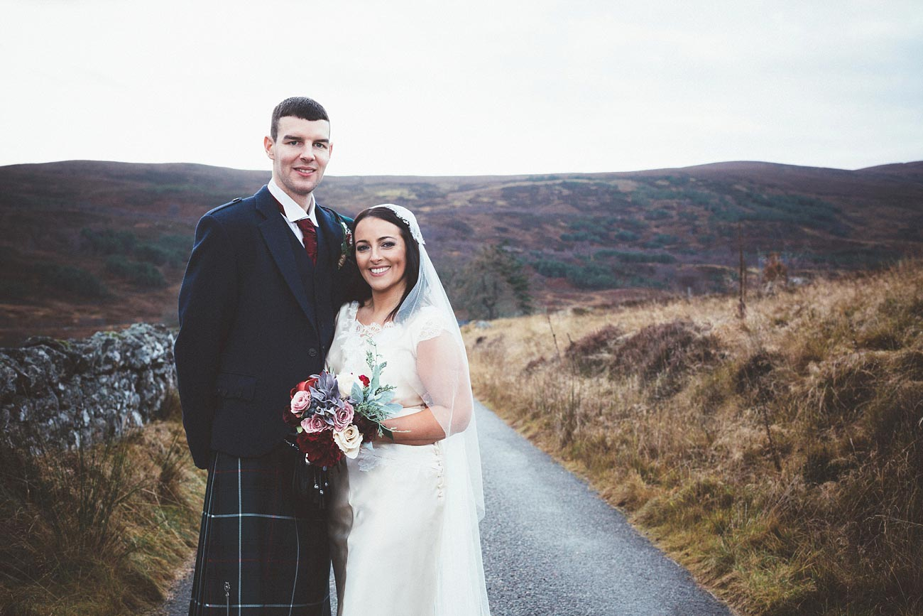 small church wedding Invernessshire scotland scottish highlands Croick 0042
