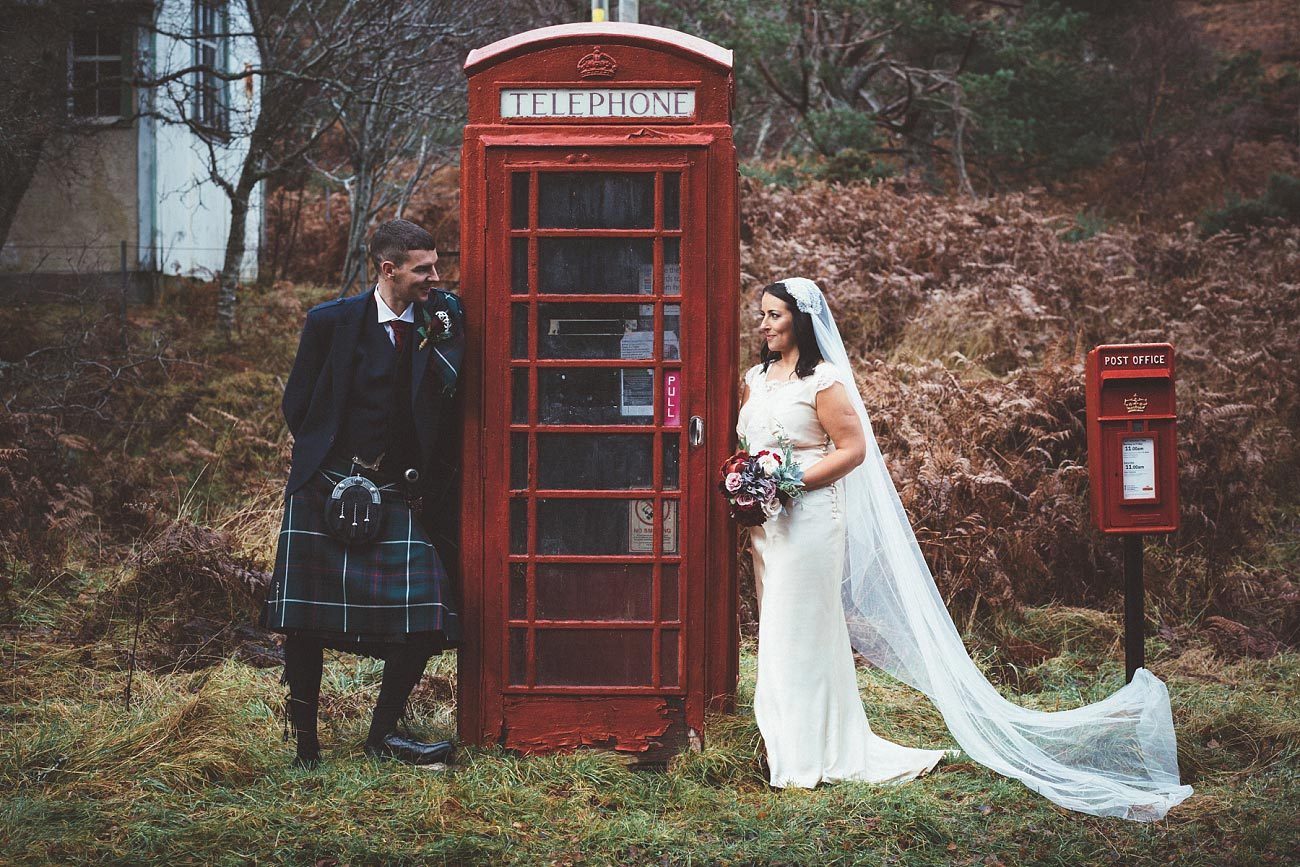 small church wedding Invernessshire scotland scottish highlands Croick 0045