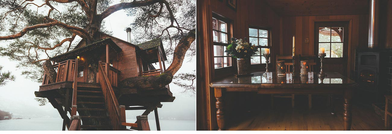 wedding photographer lodge on loch goil elopement outdoor treehouse 0004