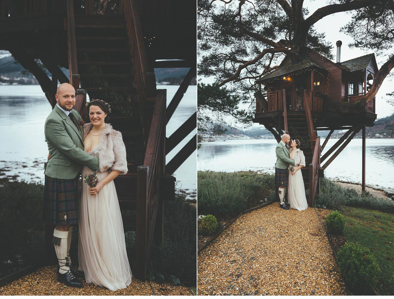 wedding photographer lodge on loch goil elopement outdoor treehouse 0027
