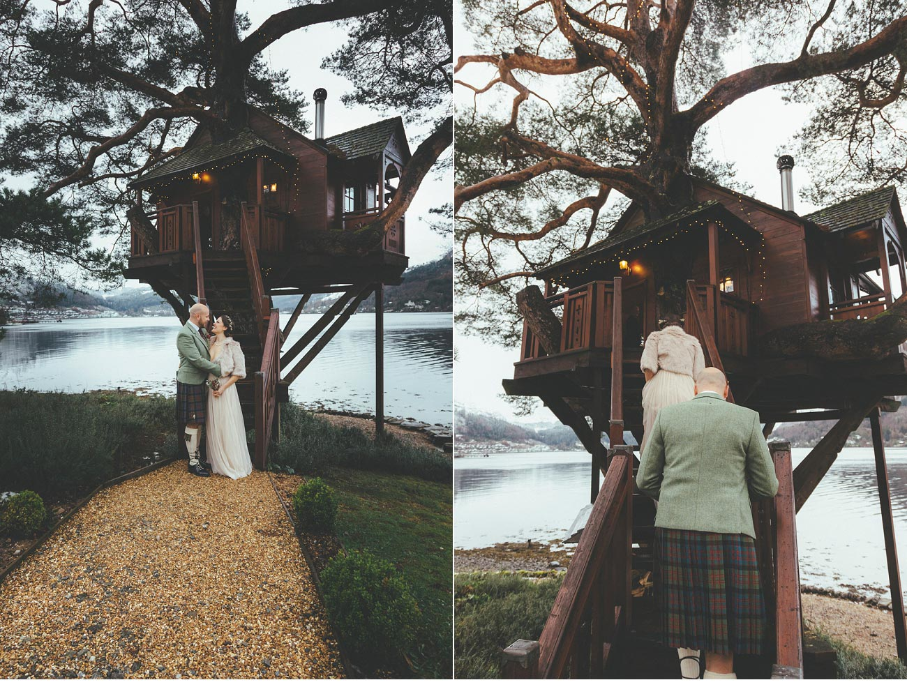 wedding photographer lodge on loch goil elopement outdoor treehouse 0029