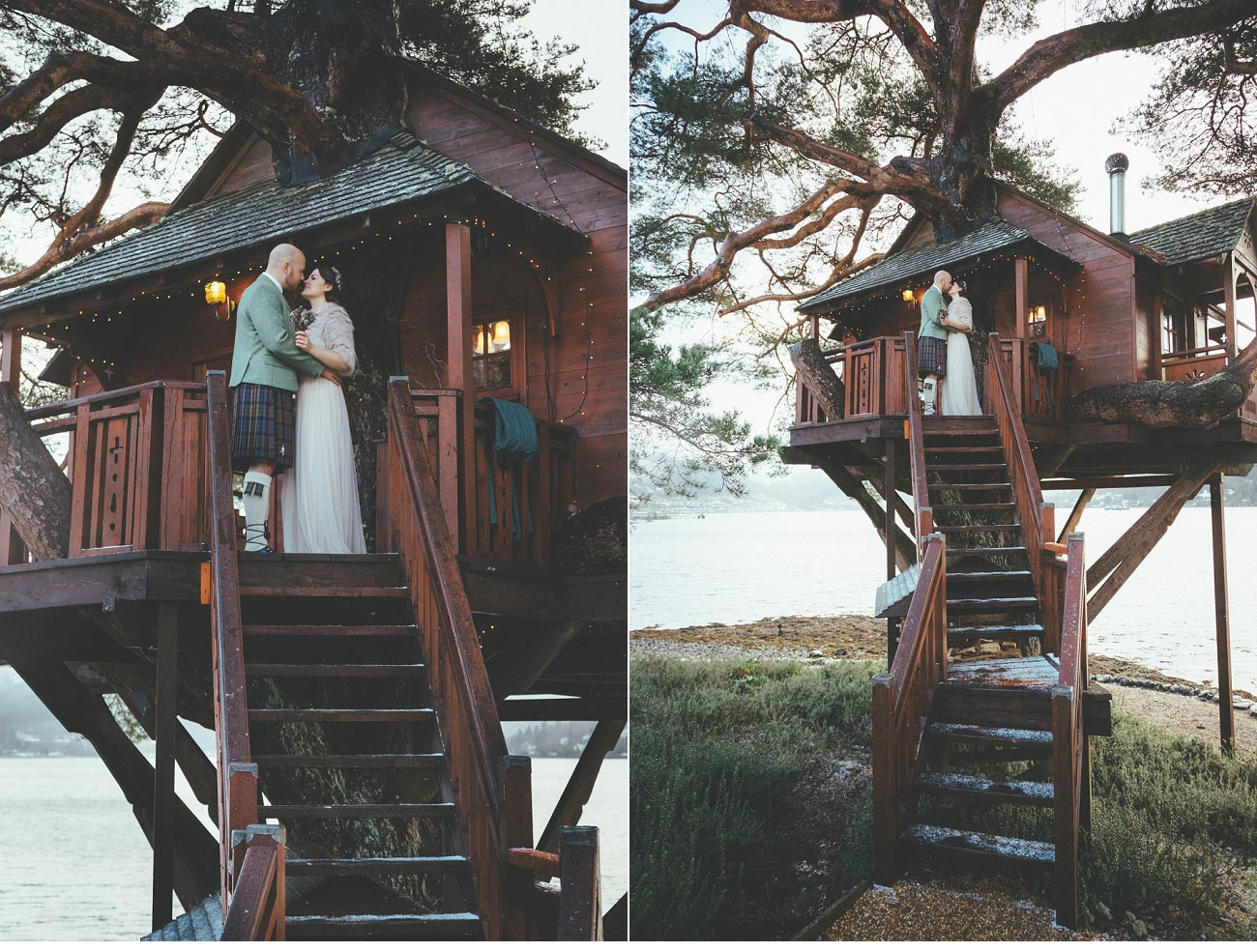 wedding photographer lodge on loch goil elopement outdoor treehouse 0039