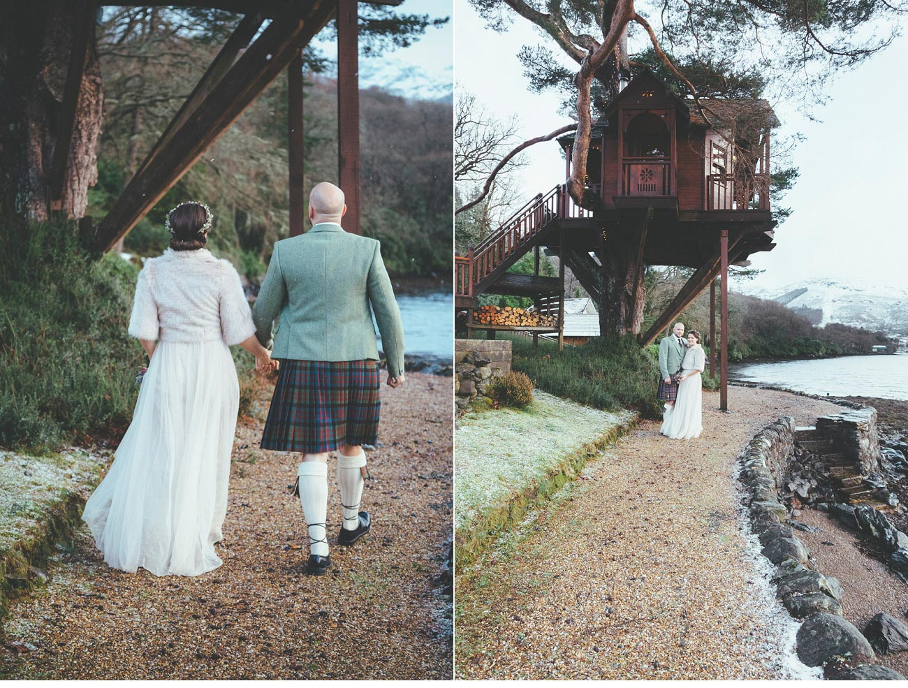 wedding photographer lodge on loch goil elopement outdoor treehouse 0042