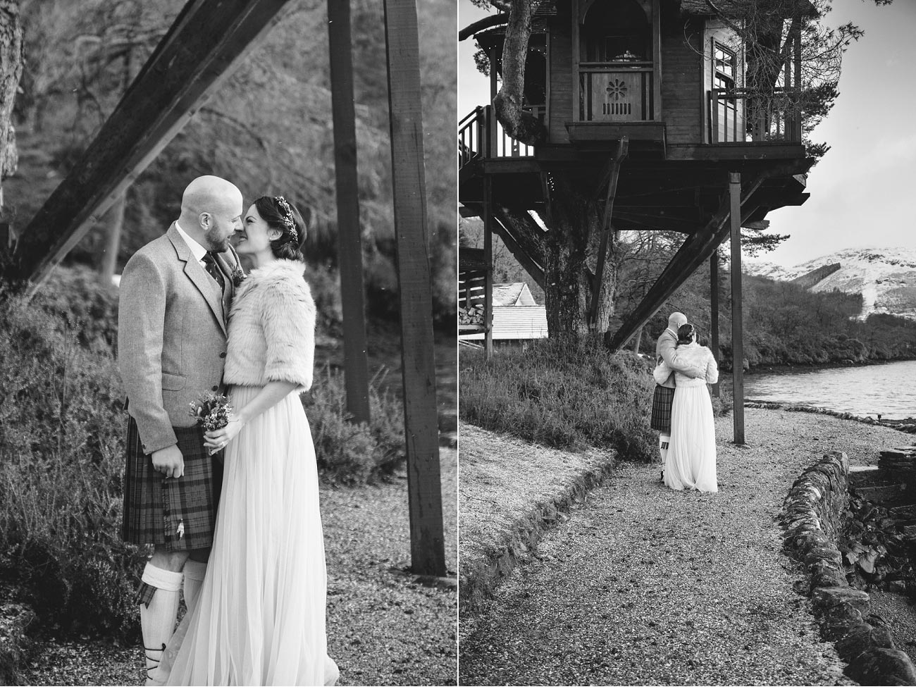 wedding photographer lodge on loch goil elopement outdoor treehouse 0043