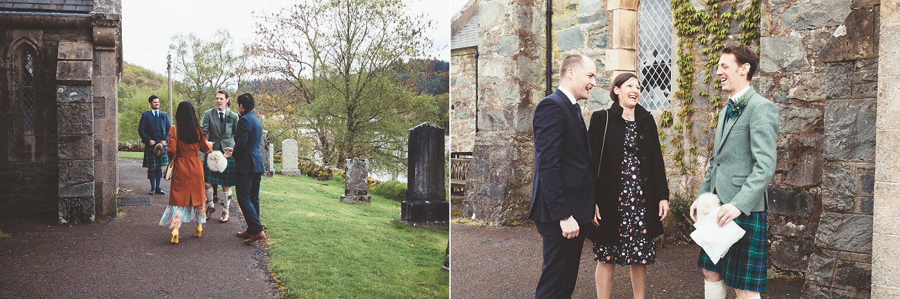 wedding photographer trossach kirk church roman camp hotel callander scotland 0033